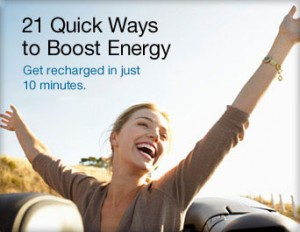 21 Ways To Boost Energy